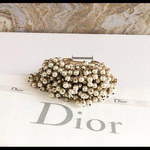 Christian Dior Mise En Dior Pearl Cuff Bracelet